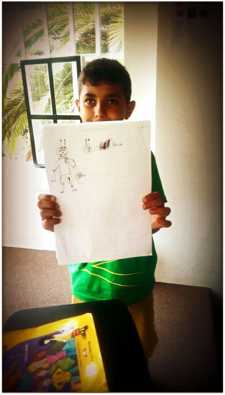 Meet my monster...#CME4K Sadece çocuklar (Okul Oncesi - Ilkokul - Ortaokul) için İngilizce dil kursu İzmir