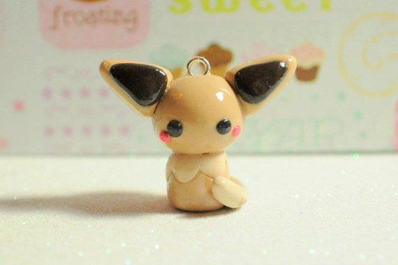 Pokemon Eevee Chibi Kawaii Charm by NerdyLittleSecrets on Etsy, $9.00   Made by Kenzie!