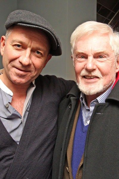 Sean Pertwee and Derek Jacobi, 22 January 2013  Why did I not see this before? Lovely photo though I can't help seeing Hugh Beringar and Brother Cadfael…
