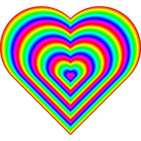 """heart rainbow picture   rainbow heart"""""""
