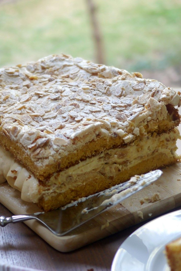 Known in some circles as 'the world's best cake', this Norwegian cake is heaven on a plate.