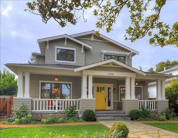 To own an old Craftsman style home would be a dream come true... Plus, i'm a sucker for bright colored front doors. :)