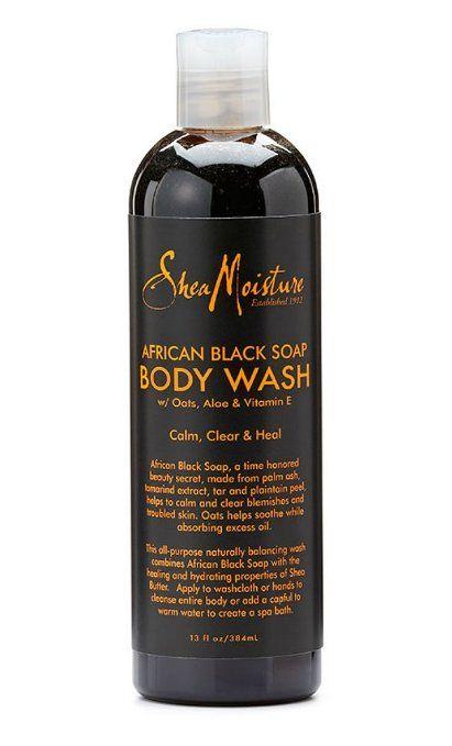 Shea Moisture African Black Soap Body Wash-13 oz