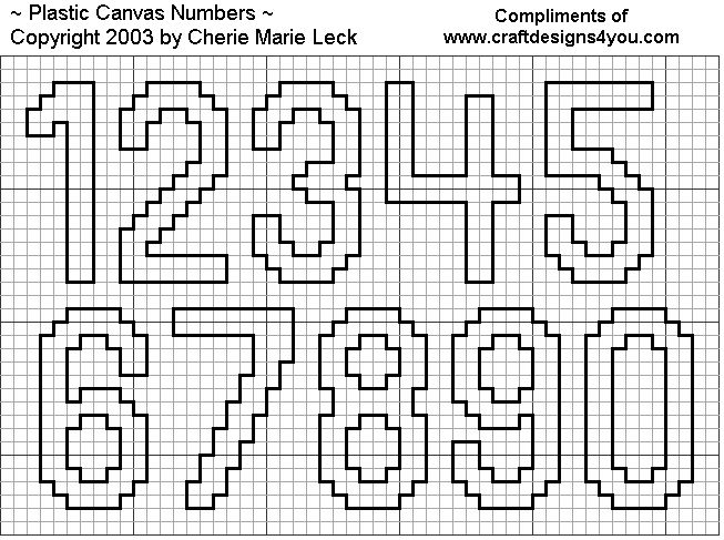 cross stitch numbers | No Stitching Needed! Simply cut these numbers from different colors of ...