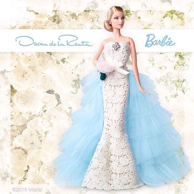 Something blue! The @OscardelaRenta Barbie is here. Shop the Like2Buy link in my bio to order yours!  #BarbieXOscardelaRenta #barbie #barbiestyle