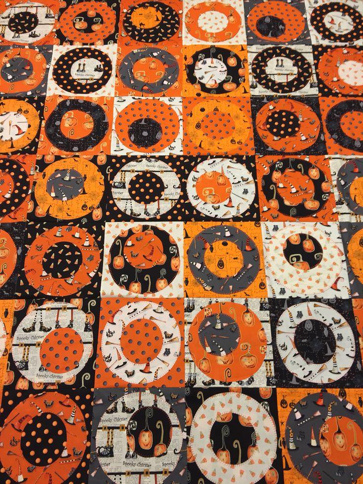 Cheeky Pumpkins Appliqu 233 Quilt Top Cheerio Circle
