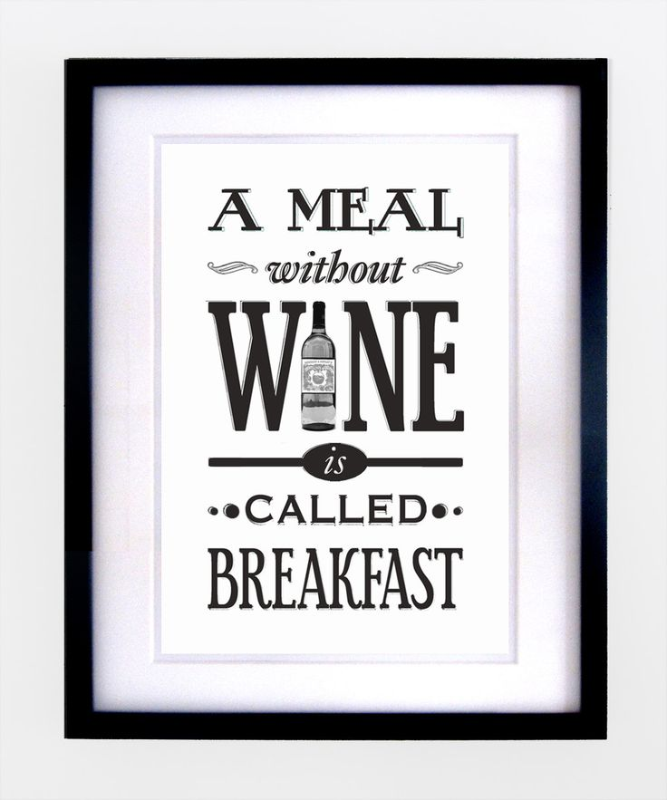 Kitchen Wine Quote Print B by oflifeandlemons on Etsy. $16.00, via Etsy.