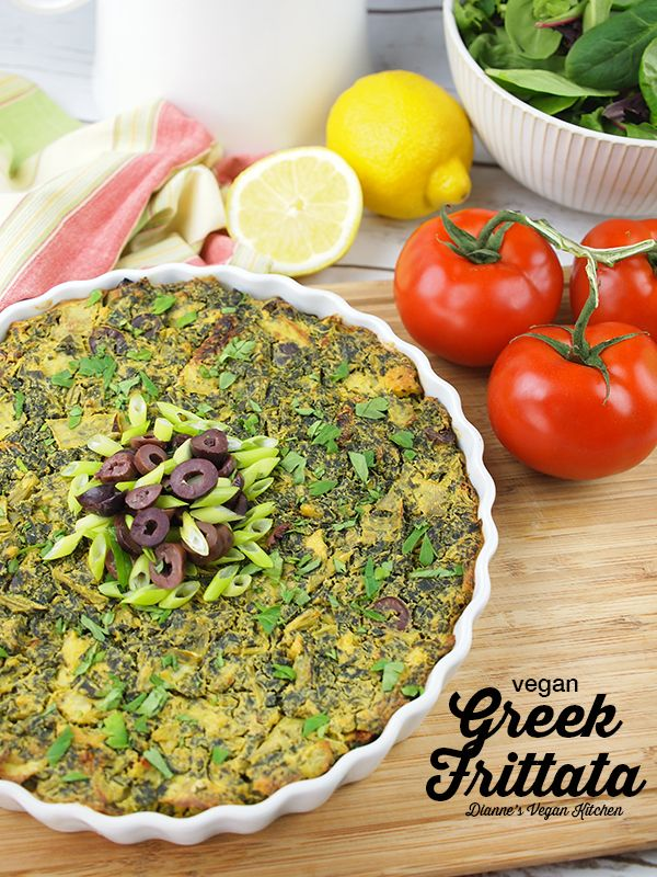 Vegan Greek Frittata For Easter Mothers Day Or Any