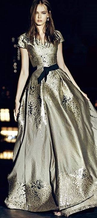 Gold. Brocade gown. Simply stunning