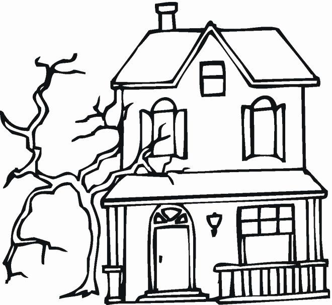 Haunted House Coloring Page Inspirational Free Printable Haunted