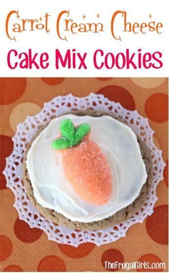 Carrot Cream Cheese Cake Mix Cookie Recipe from TheFrugalGirls.com