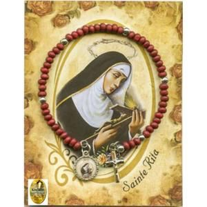 bracelet dizainier Sainte Rita en perles de bois parfumé a la rose (livraison gratuite) - Achat / Vente objet décoratif - Soldes * Cdiscount