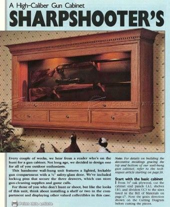 how to build a rifle cabinet for 12 guns