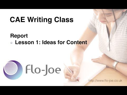 Writing CAE Reports 1: Ideas for Content - YouTube