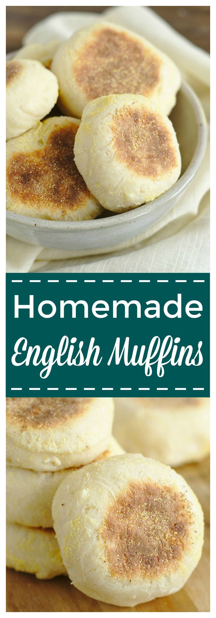 Homemade English Muffins – A delicious breakfast classic that is so easy to make! These english muffins are perfect topped with butter and jam! #english #breakfast #muffins #baking