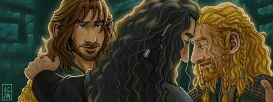 By Mausart on Tumblr< I was angry when Kili got a head bump but not Fili. Thorin really needs to learn how to share his majestic forehead.<<< YES YES SHARE YOUR MAJESTIC FOREHEAD WITH ME TOO THORIN