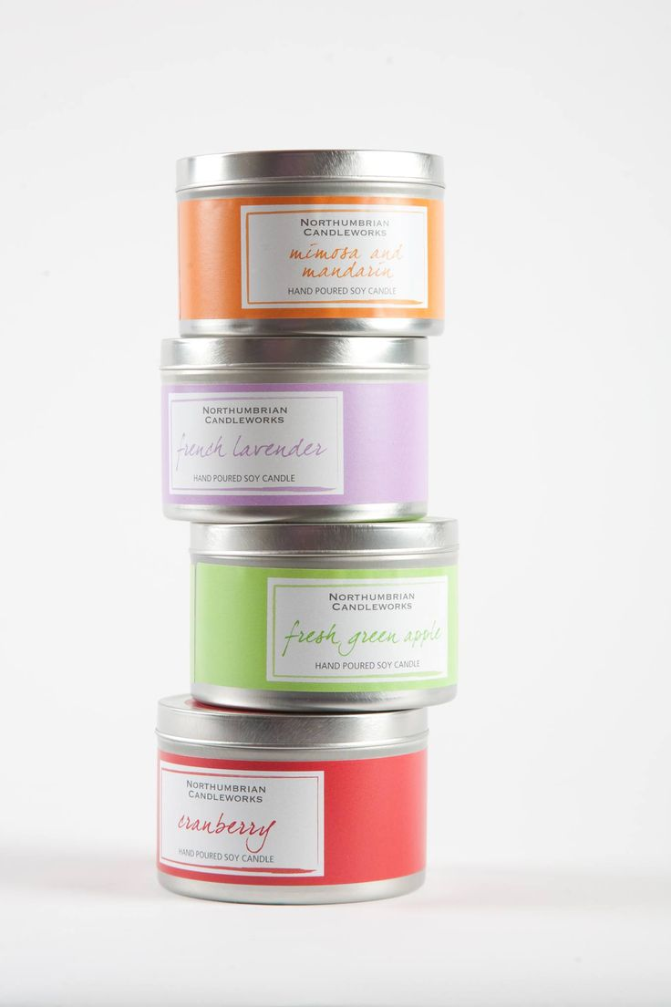 Hand poured soy candles from Northumbrian Candleworks