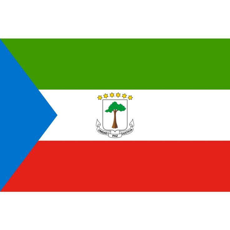 vlag Euqatoriaal-Guinea 100x150cm De vlag van Equatoriaal-Guinea is een driekleur in de kleuren groen (boven), wit en rood met aan de linkerkant een blauwe driehoek. Deze vlag is in gebruik sinds 21 augustus 1979.  De kleuren hebben elk een symbolische betekenis: groen staat voor de natuurschatten en oerwoud van het land, blauw symboliseert het water dat Bioko, Annobon en het vasteland verbindt, wit staat voor de vrede en het rood voor de onafhankelijkheidsstrijd.