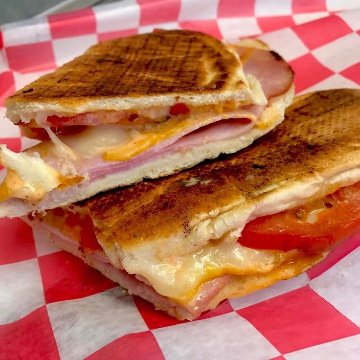 Tuesday Special  Grilled smothered ham and cheese with Sriracha mayo and tomato w/ fries n drink $10