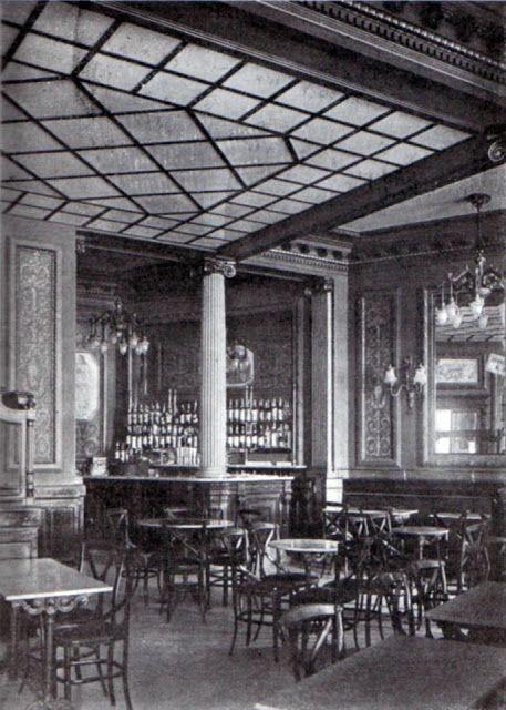 CAFÈ de la RAMBLA.1926- Mostrador. Barcelona. Catalonia