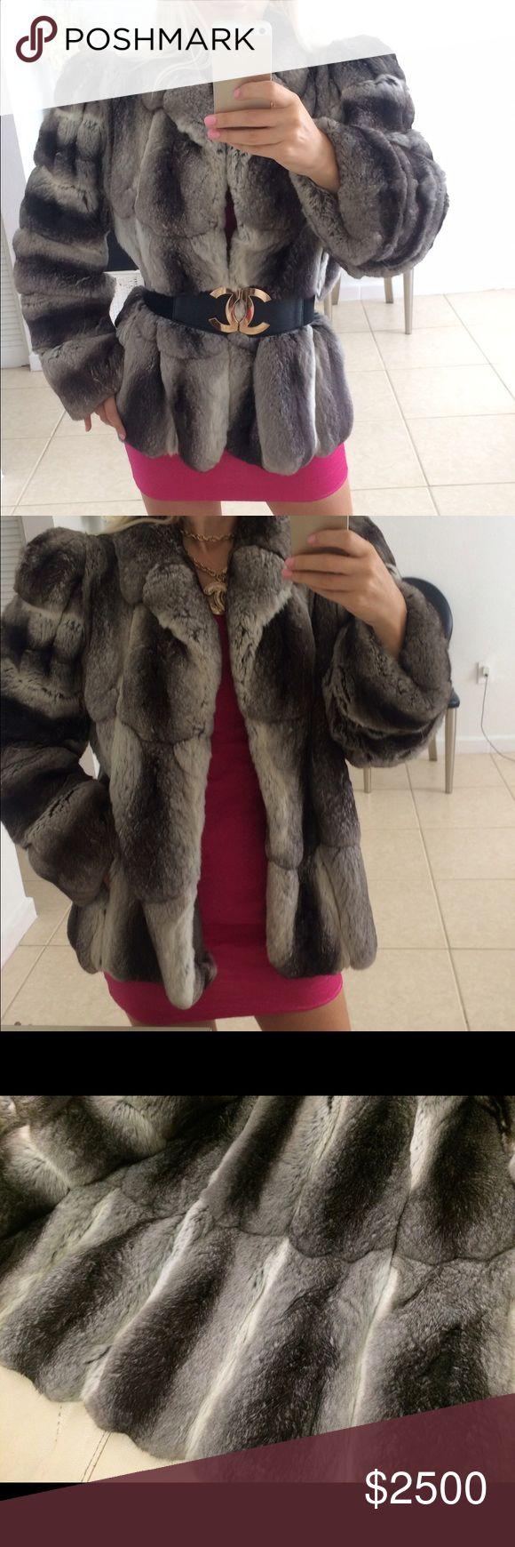 Revillon Genuine Chinchilla coat Revillon Genuine chinchilla fur coat. NOT Rex rabbit. Size small. Good condition. There always a repair on the sleeve. 🚫NO trades revillon Jackets & Coats
