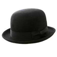 QUALITY WOOL FELT BOWLER HAT (satin lined) four sizes free next day postage.