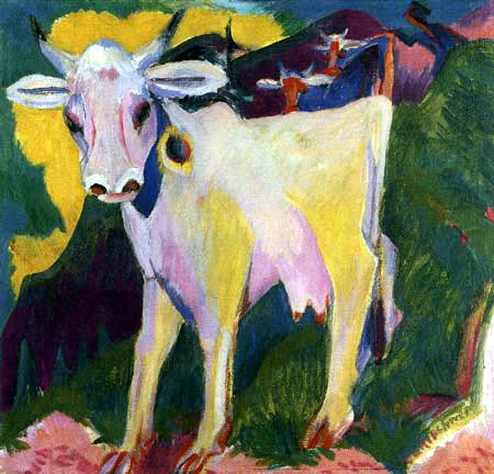 Ernst Ludwig Kirchner  - The white cow