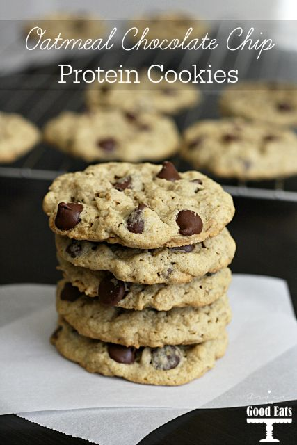 Oatmeal Chocolate Chip Protein Cookies- these are the best protein cookies I have tried! No gritty or powdery, fake sugar taste from the protein. The texture is spot on. Gluten-free!