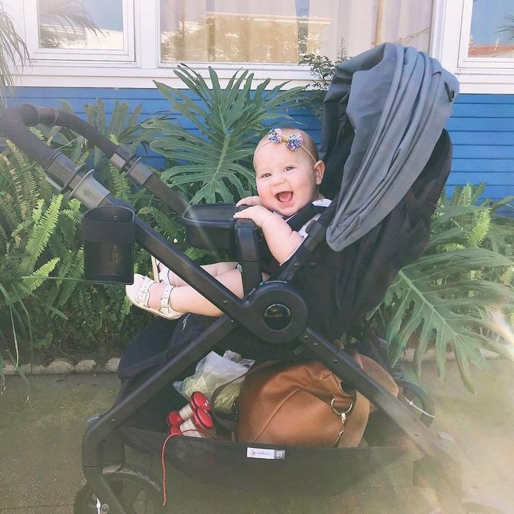 Someone is happy to have a new snack tray AND a 180 Reversible Stroller!   #180stroller #LoveStrollsOn