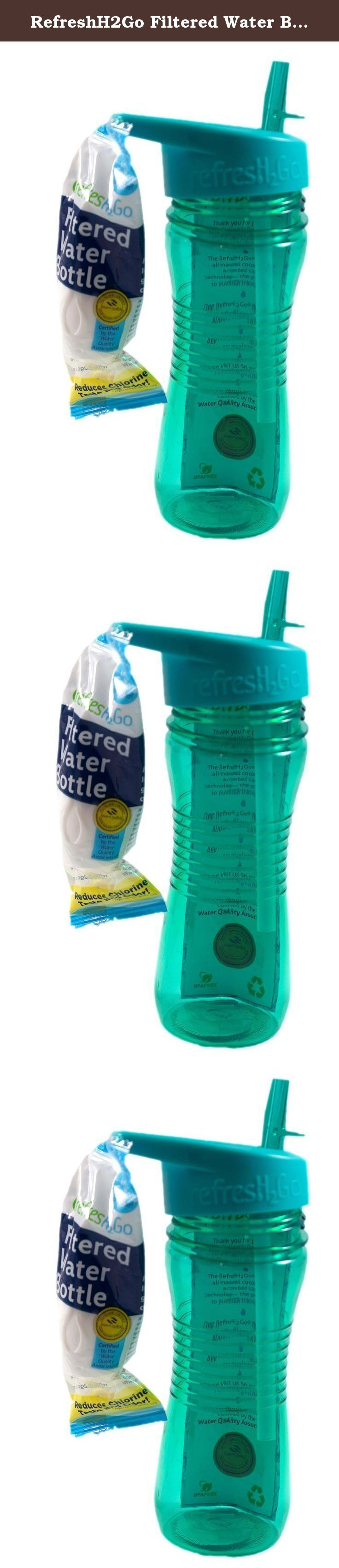 RefreshH2Go Filtered Water Bottle, Colors Vary, 2-Pack. Staying hydrated is one of the most important things for maintaining a healthy body. Whether you go on a run or just head off for a long day at work, having easy access to water is the best thing you can do for yourself. Maintaining the right level of hydration helps to minimize headaches, manage muscle cramps, and prevent dry skin. This filtered water bottle features a filter to clean your water to deliver great-tasting, pure H2O…