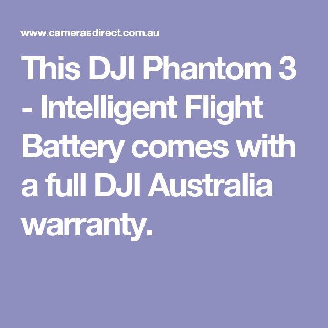 This DJI Phantom 3 - Intelligent Flight Battery comes with a full DJI Australia warranty.