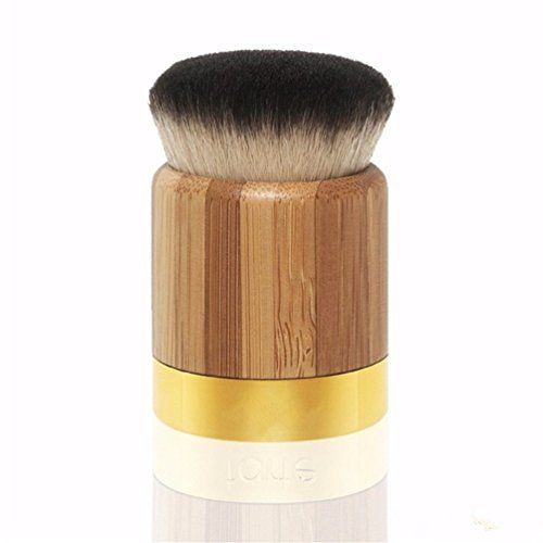 Ubeauty 2016 Professional Ecofriendly Bamboo Handle Face  Body Flat and Angled FoundationBlushLoose PowderBronzerHighlighterConcealer Contour Buffing Brush Bamboo Brush *** Details can be found by clicking on the image.