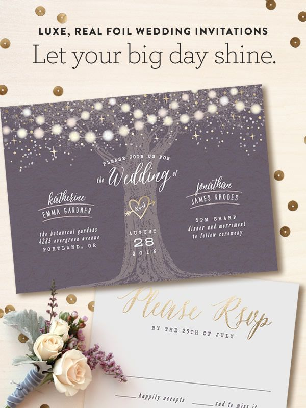 Minted is a community of independent artists, and they're inspired by luxe, real foil on wedding invitations and day-of pieces. Discover your favorites!