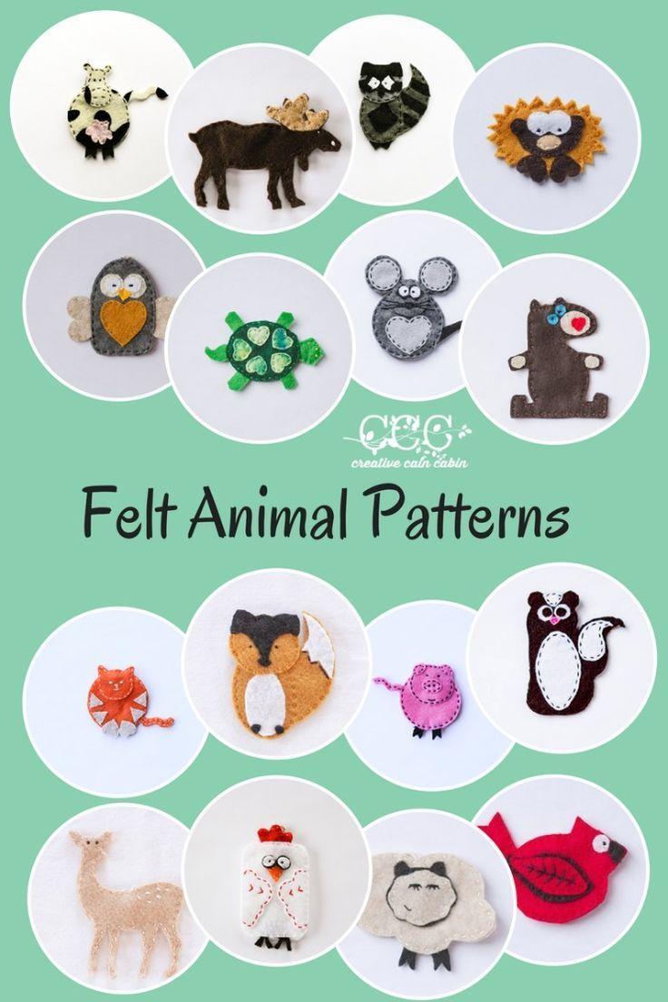 Felt Animal Patterns   Creative Cain Cabin