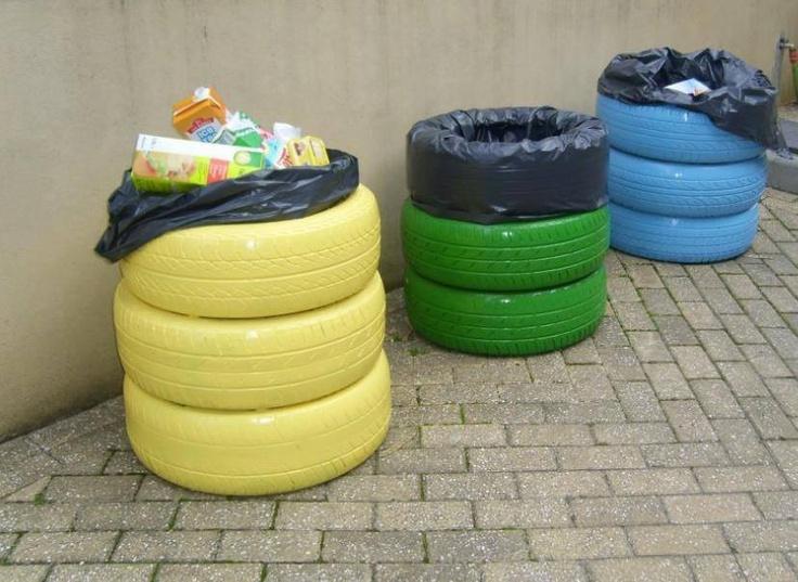 Riciclare pneumatici usati per il pattume!!!