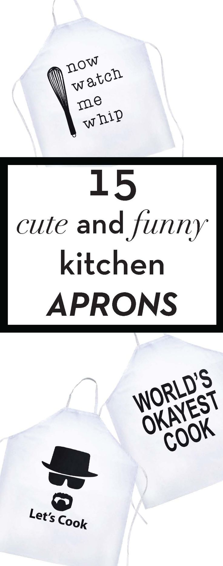 15 funny kitchen aprons you need to buy right now!