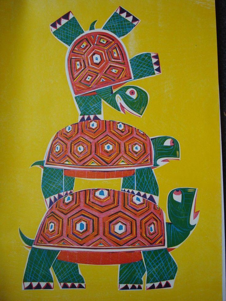 Schildkröte - holzschnitt - Gerhard Grimm, 1927-1998 Deutschland