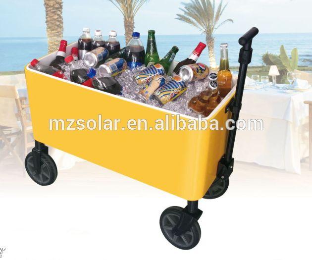 2017 metal stainless steel ice beer cooler cart