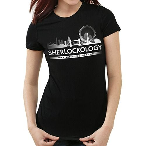 Sherlockology London Skyline T-Shirt - Female - SHOLOGY-TEE-LONSKY-F