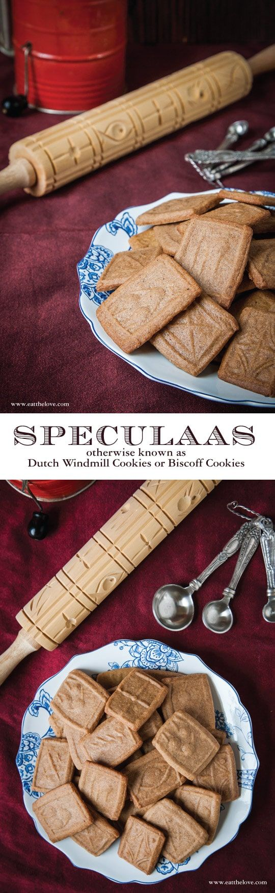 Speculoos cookies, sometimes spelled Speculaas cookies, or called Biscoff or Windmill cookies are traditional Dutch cookies served during the holidays. Photo and recipe by Irvin Lin of Eat the Love.