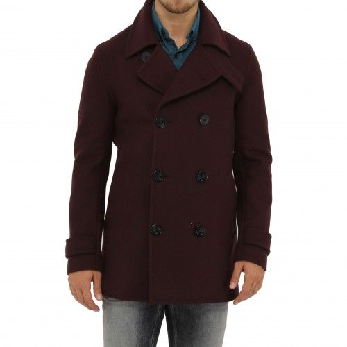 Outclass Burgundy Peacoat. This pea coat is constructed with a melton wool body, Japanese plaid shirting lining and Japanese Bemberg sleeve lining. The jacket feature detachable storm flaps under the collar, two flannel-lined hand pockets, button-down...