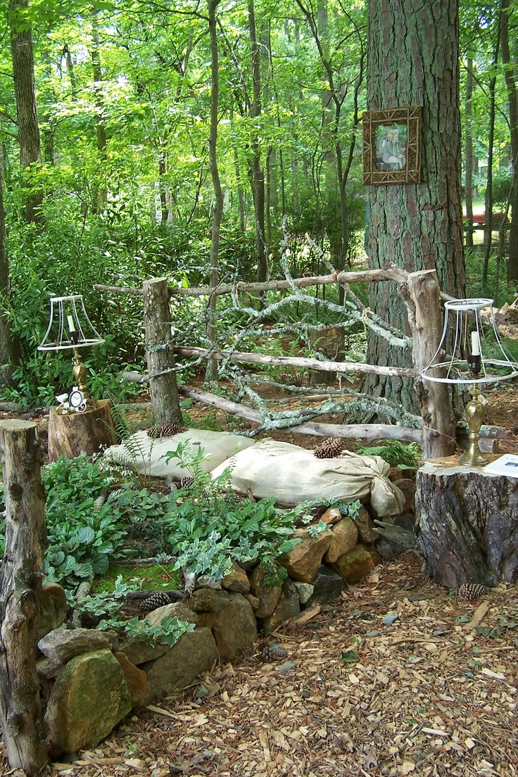Outdoor bed forest - 82 Best Garden Chairs Beds Used As Flower Beds Holders Images On Pinterest