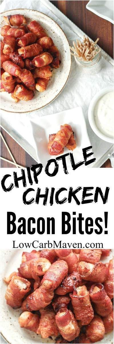 Chipotle Chicken Bacon Bites are a great appetizer or snack | low carb, gluten-free, dairy-free, Paleo, Keto, THM