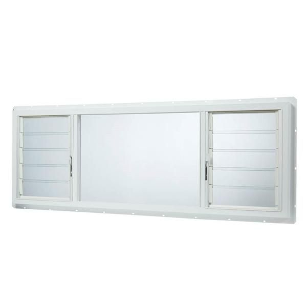 TAFCO WINDOWS 63 in. x 22.5 in. Jalousie/Picture Awning ...