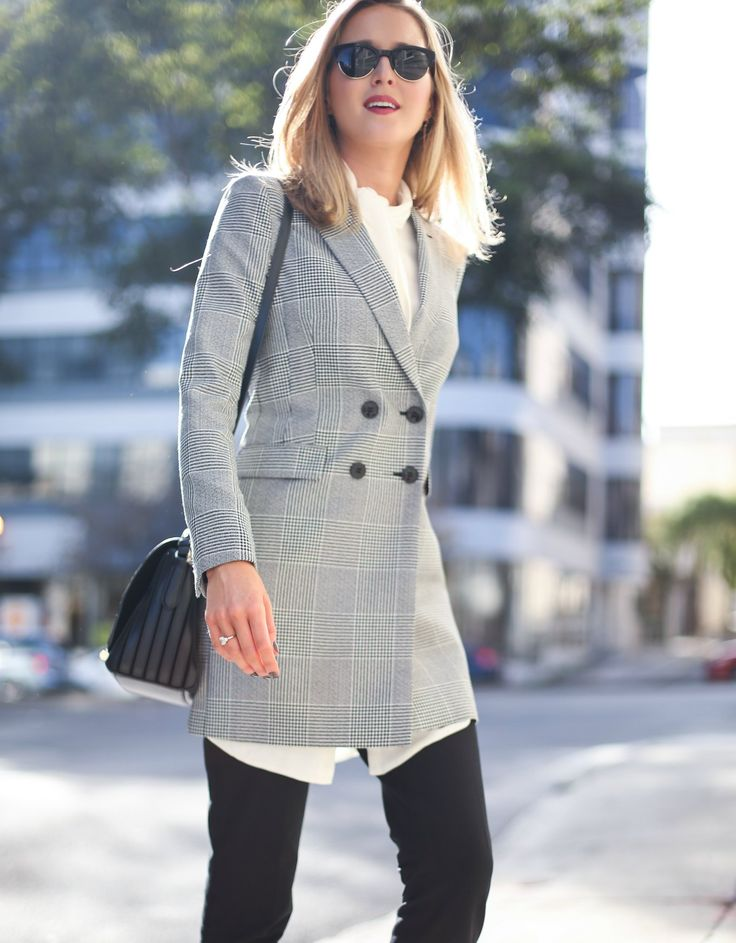 Best 25 Plaid Blazer Ideas On Pinterest Blazer Fashion Winter Style And Parisian Style