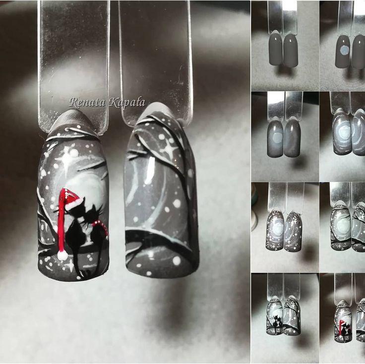 #kpk #krokpokroku #wzorkimalowaneręcznie #wzornikisamesieniepomaluja❤️❤️❤️ #nail4you #nails #indigo #indigonails #indigonailslab #lovenails #loveindigo #indigolovers #nailart #nailporn #instanails #naildesign #tutorial #nailtutorial #stepbystep #nailartist #hybrydamimalowane #wzorki #christmasnails