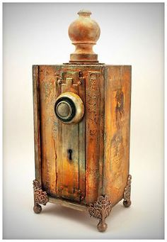 The Invention - Altered Cigar Box - Jack and Cat Curio