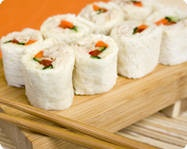 sushi style sandwhiches