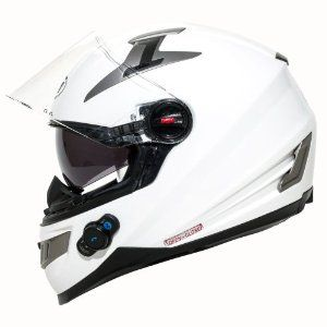 White Bilt Techno Bluetooth Helmet