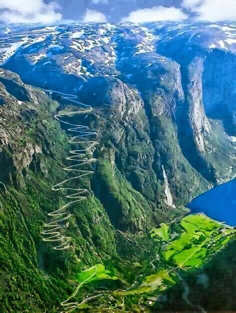 The zigzag Lysefjorden Road in Norway - Tom-Rune Forbergskog